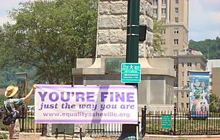Gay Equality Asheville You're Fine Sign