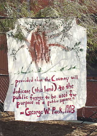 Stop Parkside Condo Rally George W. Pack Sign