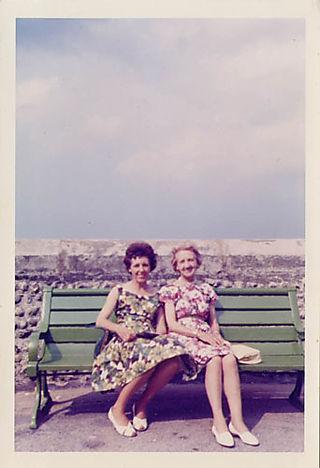 Floral dresses, 1950's