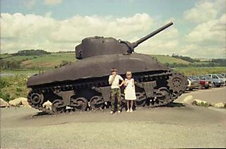 Tank and children, 1980's