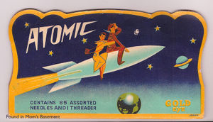 Atomic needle book cover