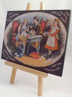PSAW fine art laminated digital reprint from Wells & Richardson Diamond Dyes trade card