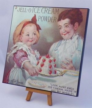 PSAW- fine art laminated digital print from Jello recipe book