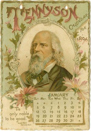Tennyson calendar