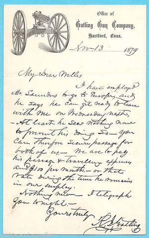 Gatling Letter