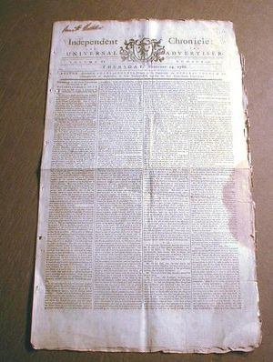 U.S. Constitution newspaper