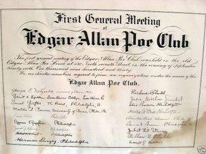 birth certificate edgar allan poe