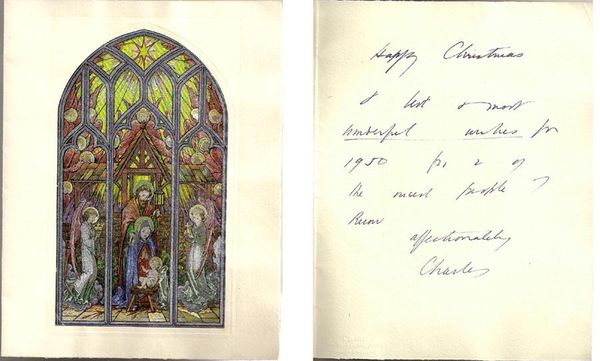 Cartier Christmas Card from Fashion Designer Charles James