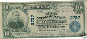 $10 National Bank Note