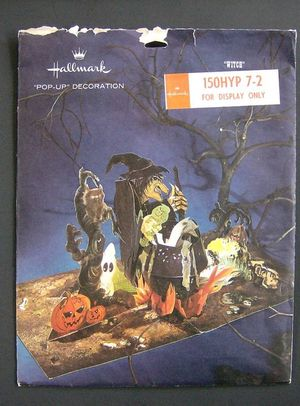 according to the listing it is a vintage hallmark halloween cardboard decoration it comes with original bag with decorating ideas on - Hallmark Halloween Decorations