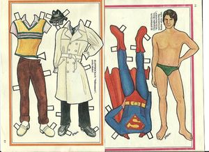 Superman Christopher Reeve Paper Doll