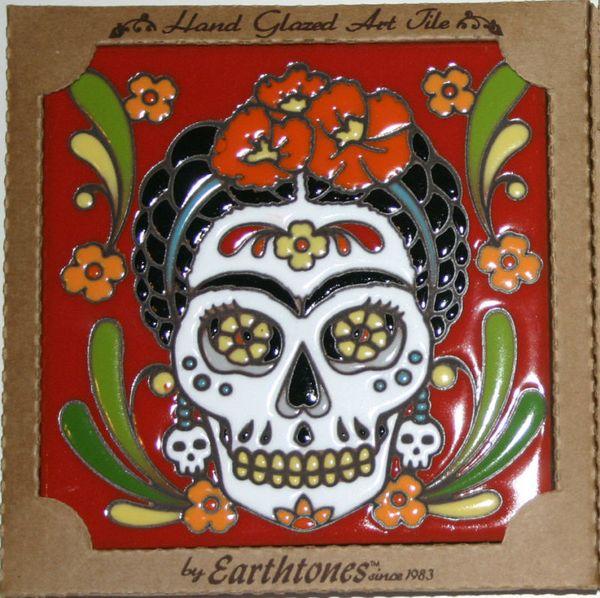 Frida Kahlo Day Of The Dead Tile