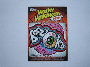 Wacky Packages Halloween Postcards 2010 - Smokin' Joe