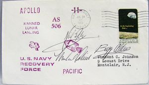 Apollo 11 Neil Armstrong Astronaut Signed Cover 1969