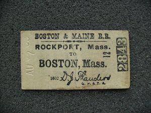 Boston Maine Railroad 1906 Ticket