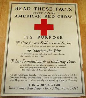 WWI Red Cross Working for the Allies Poster
