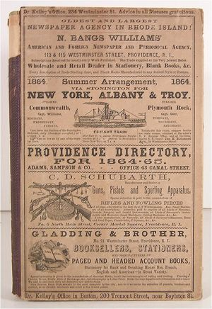 Providence Rhode Island 1864 Business Directory