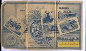 John Deere Illustrated Plow Advertising Catalog 1885