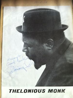 Thelonious Monk 1964 Original Signed Concert Program
