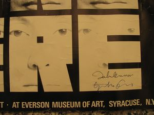 John Lennon Yoko Ono Signed This is Not Here Art Poster