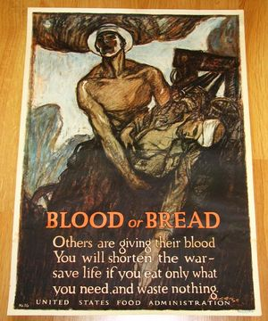 Blood or Bread World War I Poster Henry Raleigh