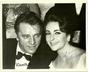 Elizabeth Taylor and Richard Burton Signed Photograph