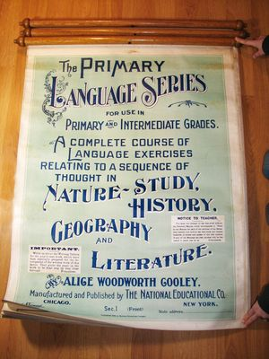 Victorian Illustrated Language Teaching Series Poster