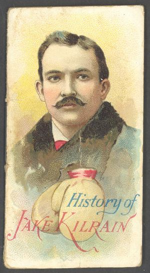 Tobacco Card Boxer Jake Kilrain Duke's Cigarettes 1888