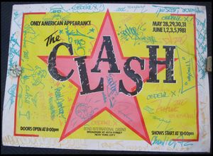 Clash Concert Poster Bonds NYC 1981 Signed Graffiti Art