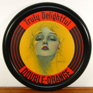 Double Orange Soda Rolf Armstrong Art Deco Advertising