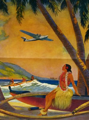 Hawaiian Hula Girl Pin Up Calendar Pearl Harbor