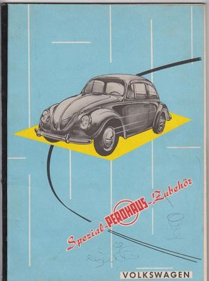 1959 VW Bug Volkswagen Philip Roth Perohaus Catalog