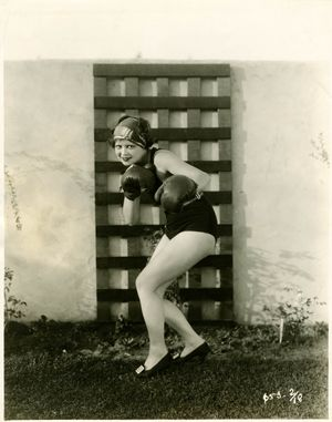 Clara Bow Boxing Photograph by Otto Dyar