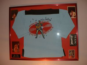 Elvis Presley Framed Memorabilia Collection