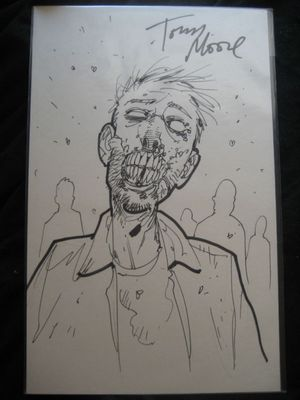 Tony Moore Walking Dead Zombie Signed Sketch