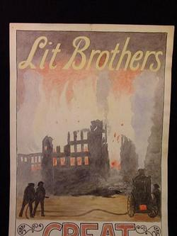 Great Fire Sale Poster Antique Philadelphia