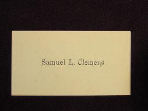 Mark Twain Samuel Clemens Calling Card