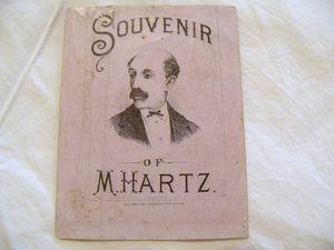 M. Hartz Magician Souvenir Blotter