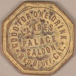 California Saloon Merchant Trade Token Coin