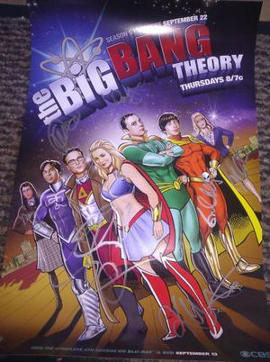 Big Bang Theory TV Show Cast Signed Poster