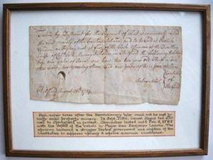 Shays' Rebellion Post Revolutionary War Tax Manuscript