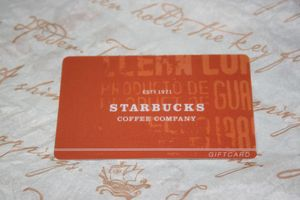 Prototype Promotional Starbucks Gift Card