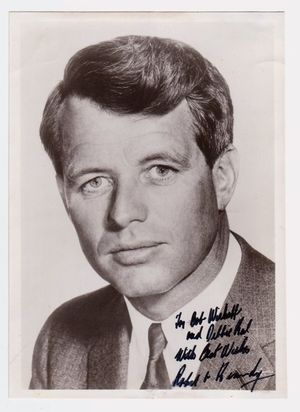 Robert F. Kennedy 1965 Signed Photo