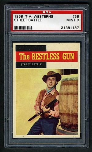 Topps TV Westerns Restless Gun #56