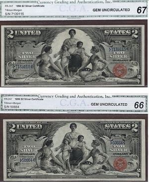 $2 Silver Certificates Educational Notes