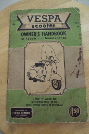 Vespa Scooter Manual