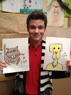 Glee Cat Dog Artwork