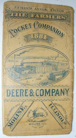 John Deere Pocket Calendar 1881