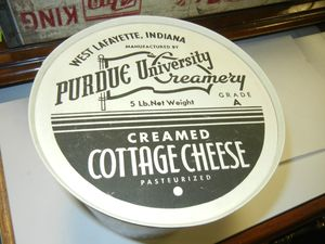 Purdue University Cream Cheese Tub