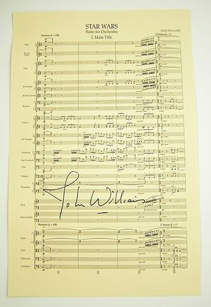 Star Wars John Williams autograph